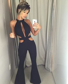 WEBSTA @ quoteclothing - Nosso macacão agora na cor preta! ❤ Girly Outfits, White Outfits, Casual Outfits, Fashion Outfits, Womens Fashion, Backless Prom Dresses, Classic Outfits, Striped Jumpsuit, Dance Fashion