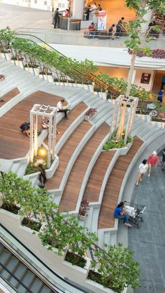 Mega Food Walk at Mega Bangna | LANDSCAPE COLLABORATION Stairs Architecture, Landscape Architecture Design, Green Architecture, Futuristic Architecture, Concept Architecture, Landscape Designs, Sustainable Architecture, Urban Landscape, Classical Architecture