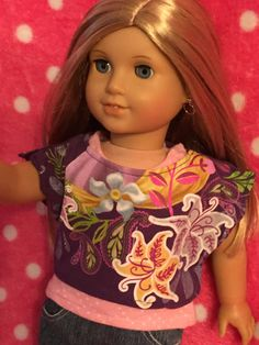 Up-Cycled Two Piece Shirt for American Girl Dolls or by ItIsSewYou