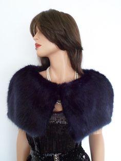 7e98fd317bb navy fur capelet navy blue fur fake fur stole by thepurplegenie