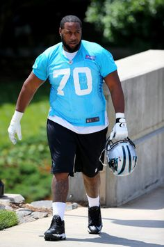 CHARLOTTE, NC - MAY 17: Trai Turner #70 of the Carolina Panthers during the Carolina Panthers Rookie Minicamp at Bank of America Stadium on May 17, 2014 in Charlotte, North Carolina. (Photo by Streeter Lecka/Getty Images)