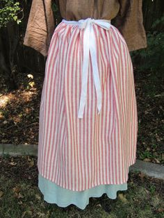 Red and white stripe all linen colonial waist by TalbottandCo, $32.00