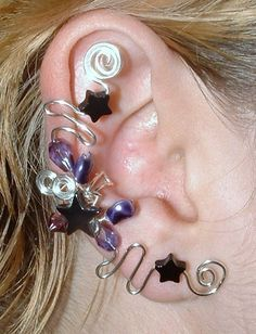 Onyx Star Fairy Ear Cuff Wrap by Thyme2dream on Etsy, $20.00