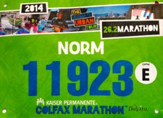 2014 Colfax Marathon (Denver, CO). May 2014 Race Bibs, Marathon, Denver, Racing, Tours, Urban, Running, Marathons, Auto Racing