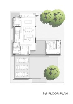 Gallery of VIVE Bangna House / Land & Houses Public Co. - 23 Image 23 of 28 from gallery of VIVE Bangna House / Land & Houses Public Co. Modern House Plans, Small House Plans, Floor Plan Sketch, Co Housing, Courtyard Design, Apartment Plans, House Layouts, Villa, Modern Homes