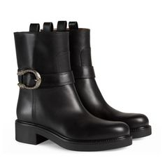 Leather ankle boot gucci.com