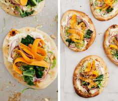 Mini Sweet Potato Pizzas / @loveandlemons  3.25.15 || Made an adapted version. Feta cheese, mozzarella, red pepper flakes, and a spring mix were used. KEEPER.