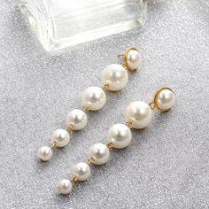 Vintage Classic Drop Earrings – klozetstyle.com Pearl Drop Earrings, Circle Earrings, Pendant Earrings, Pearl Pendant, Statement Earrings, Clip On Earrings, Women's Earrings, Earrings Online, Wedding Earrings