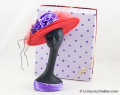 This lovely lady stands 6 inches tall with a removeable 6 inch soft hat.  The hat has feathers and...