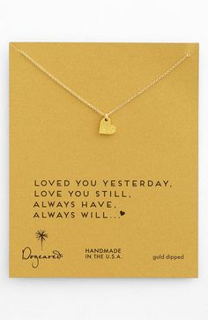 'Sparkle Heart' Necklace - love the words (perfect Valentines gift!)
