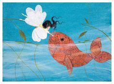 Print Fish kiss de Cathy Delanssay sur DaWanda.com