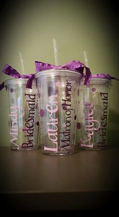 Personalized Clear Double Walled Plastic by ByJusteenCrafts