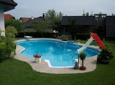 Residential Swimming Pool Slides Pools Backyards Pinterest - Backyard pools by design fort wayne indiana