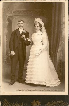 Wedding Wednesday - Blushing Belleville, IL Bride & Dashing Groom circa 1896: Forgotten Faces and Long   Ago Places:   http://forgottenfacesandlongagoplaces.blogspot.com/2012/07/wedding-wednesday-blushing-belleville.html#