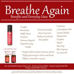 Scents & Scentsibility, Young Living Oils: Young Living Breathe Again, Raven and R.C. Essential Oil Blends