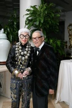 I love this woman! -Iris & Carl Apfel