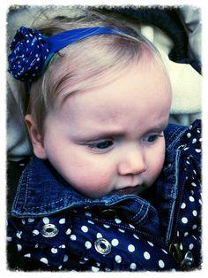 Hollands haarbandje!  blauw en stippen haarband diy!