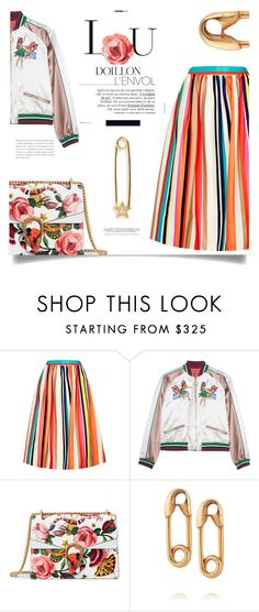 """Colorful thoughts! TS 22/7"" by chalsouv ❤ liked on Polyvore featuring Alice + Olivia, Gucci and IaM by Ileana Makri"