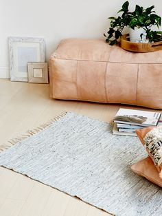 Metallic Leather Rug at Free People Clothing Boutique