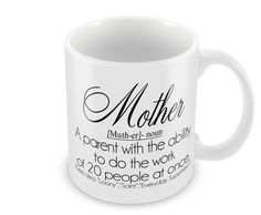 Mother Definition Mug Cup Mothers Day Cup Coffee Hot Drink Gift Present Mum Mother's Day Mugs, Gift Sets, Mug Cup, Best Mom, Jessie, Mothers, Presents, Diy Projects, Craft Ideas