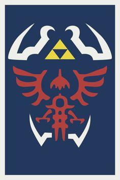Zelda Hyrule Shield Design Print
