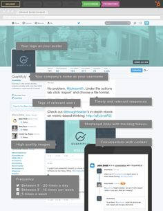 Optimized Twitter profile - #SocialMedia #Infographic #Infographics #Twitter