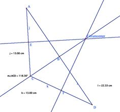 The CIRCUMCENTER of a triangle is the point in the plane equidistant from the three vertices of the triangle