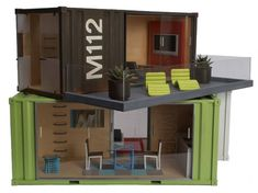 What a great Idea! Model Shipping containers I want one. Hell I'd even live in one.