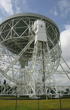 The giant radio telescope at Jodrell Bank - a marvel of post war British engineering construction