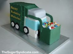 @Paula manc Golding... Check this out!!  Garbage Truck Cake by The Sugar Syndicate, via Flickr