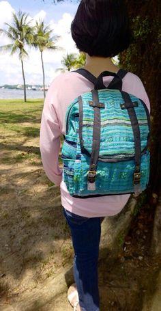 A personal favorite from my Etsy shop https://www.etsy.com/sg-en/listing/212108702/on-sale-blue-backpack-rucksack-schoolbag