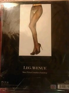 .99 auction                     Have one to sell? Sell it yourself         LOT OF SIX Leg Avenue Sheer Nylon Crotchless Pantyhose BLACK One Size