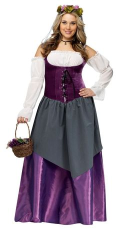 Deluxe Plus Size Renaissance Tavern Wench Costume - Candy Apple Costumes - Deluxe Costumes