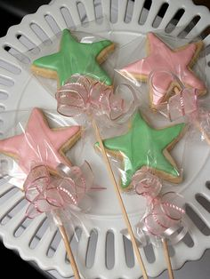 wand cookies...these would be so cute for a princess/fairy themed party