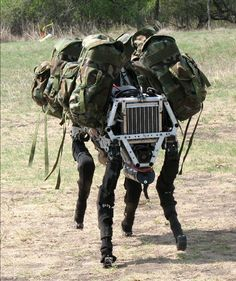 BigDog is a dynamically stable quadruped robot created in 2005 by Boston Dynamics with Foster-Miller, the NASA Jet Propulsion Laboratory, and the Harvard University Concord Field Station. BigDog is 3 feet (0.91 m) long, stands 2.5 feet (0.76 m) tall, and weighs 240 pounds (110 kg), about the size of a small mule