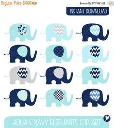 50% OFF Baby Elephants Clip Art Set / Elephant by igivelove