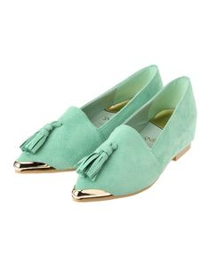 Snidel mint suede shoes