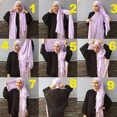 Party Hijab style by Zahratul Jannah