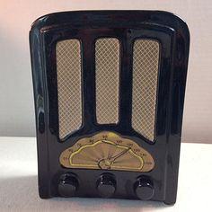 Vintage Porcelain Antique Radio Bank by RetroUrban on Etsy