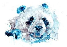 Original Panda Watercolor Art Print, Watercolor Print, Poster, Giclee Print [ANI 51-3] by paintersville. Explore more products on http://paintersville.etsy.com