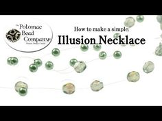 How to Make Fast & Simple Illusion Necklace - YouTube free tutorial from The Potomac Bead Company. Potomac bead company has hundreds of tutorials on YouTube and tens of thousands of products (gemstones, crystals, glass, seed beads, pendants, silver, findings, tools & more) in retail bead stores and on TheBeadCo.com! www.potomacbeads.com www.thebeadco.com