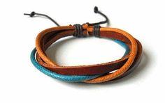 Real Leather bracelet   bangle  Cotton Rope by jewelrybraceletcuff, $3.00