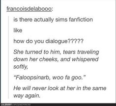 Why Sims and Fanfiction should never mix. LOL
