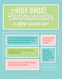 These are just a few of the many ways the Holy Ghost can communicate to you. For more, visit http://bit.ly/1tYlwRQ.