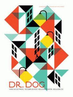 Items similar to Dr Dog Boulder 2010 Dan Stiles Concert Poster Silkscreen Original on Etsy Gig Poster, Poster Sport, Poster Cars, Poster Retro, Poster Prints, Poster Design Layout, Event Poster Design, Graphic Design Posters, Graphic Design Inspiration