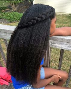 15 Spicy Black Hair Growth Secrets To Wow Everyone! - The Blessed Queens - What are some black hair growth secrets that you can't live without? These black hair growth tips - Long Natural Hair, Pelo Natural, Natural Beauty, Back To School Hairstyles, Straight Hairstyles, Black Hairstyles, Curly Haircuts, Kid Hairstyles, Hairdos