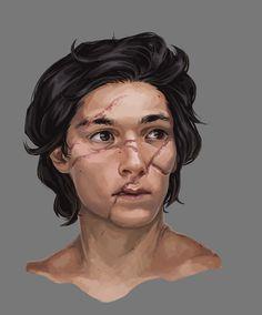 Scars, Alexandra Kononenko on ArtStation at https://www.artstation.com/artwork/WQAvQ