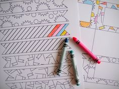 Printable U-Color-It Party - bust out your coloring skills!