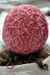 Raspberry Semifreddo Hat is a cozy looking hat that has multiple sizes and uses only one skein of yarn.