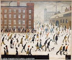 Image result for l s lowry matchstick men